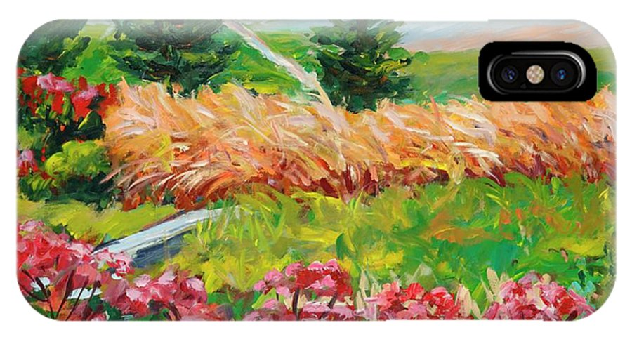 Landscape IPhone X Case featuring the painting Untitled by Ingrid Dohm