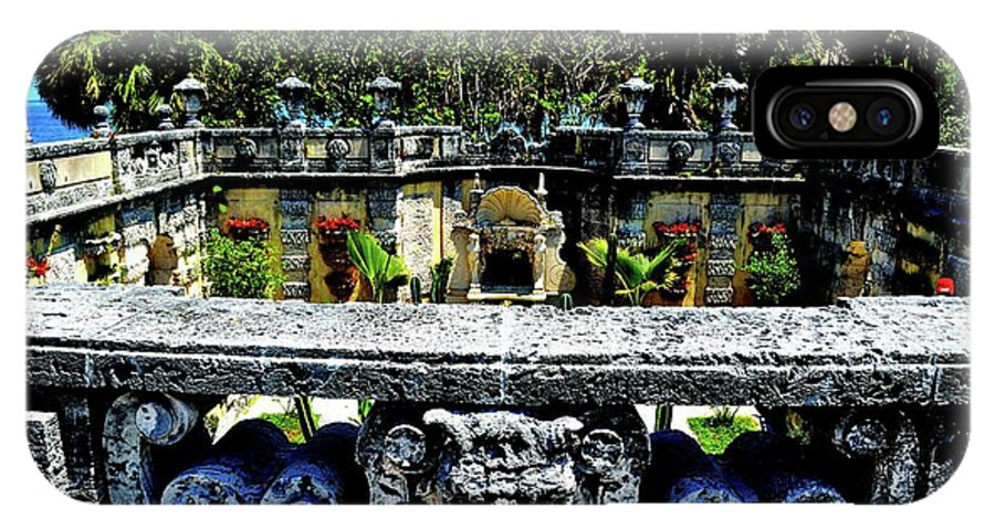 Vizcaya Museum And Gardens IPhone X / XS Case featuring the photograph Vizcaya Museum And Gardens by Leslie A Rodriguez