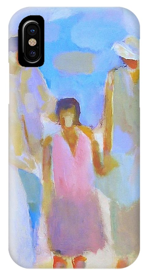 Abstract IPhone Case featuring the painting 3 With Love by Habib Ayat