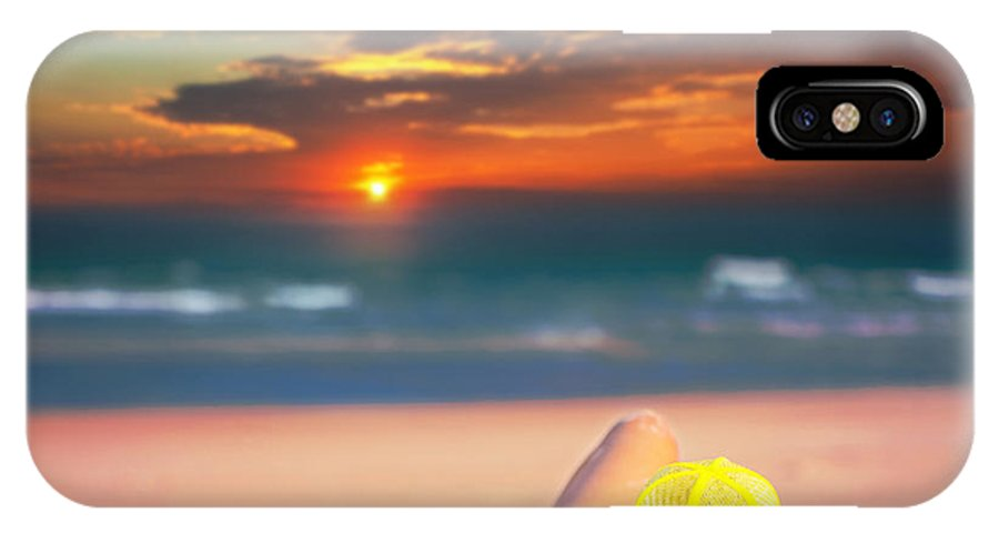 Girl IPhone X Case featuring the photograph Woman On The Beach by MotHaiBaPhoto Prints
