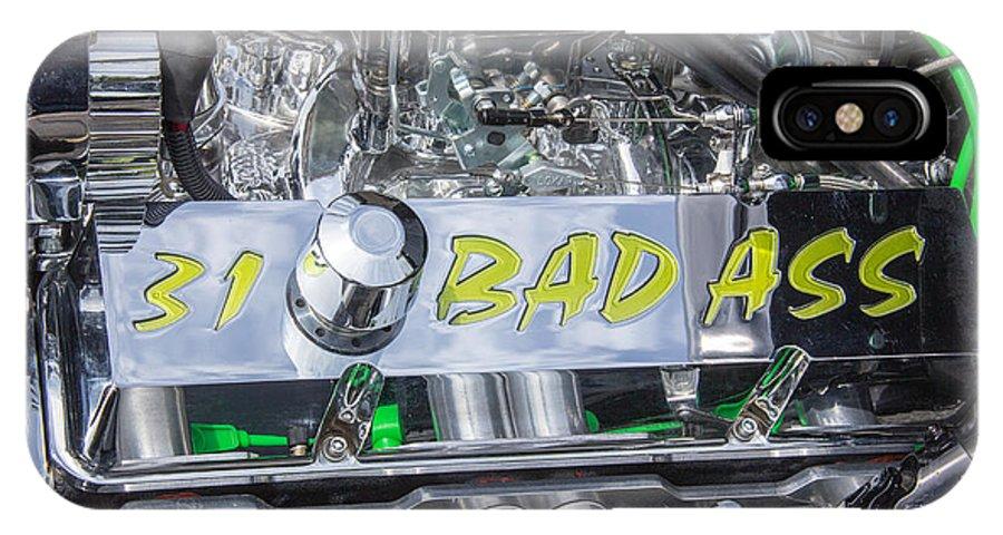 Robert Kinser IPhone X Case featuring the photograph 31 Ford Roadster Bad Ass Motor by Robert Kinser
