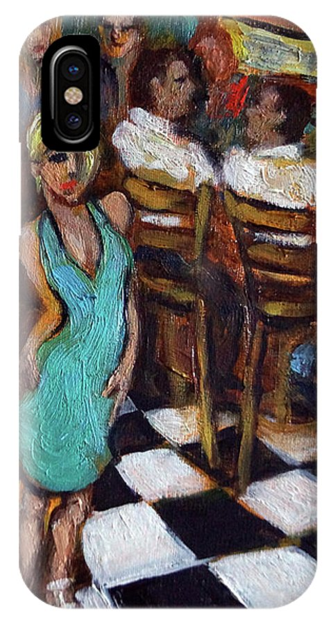 Restaurant IPhone Case featuring the painting 32 East by Valerie Vescovi