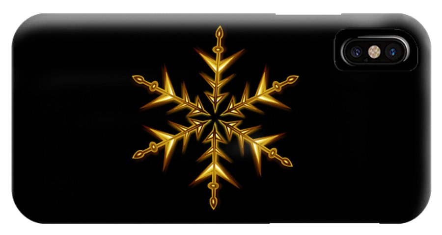 Witchcraft IPhone X Case featuring the digital art Christmas by Frederick Holiday