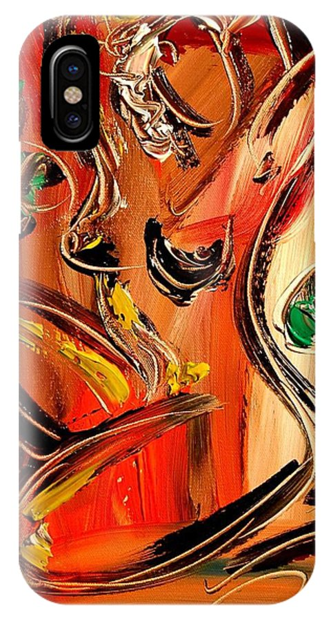 Landscape Framed Prints IPhone X Case featuring the painting Nude by Mark Kazav