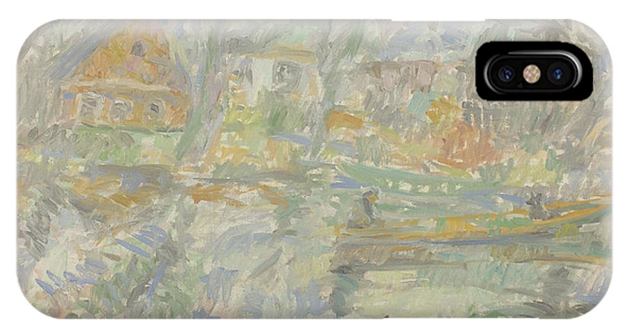 Bay IPhone X Case featuring the painting River by Robert Nizamov