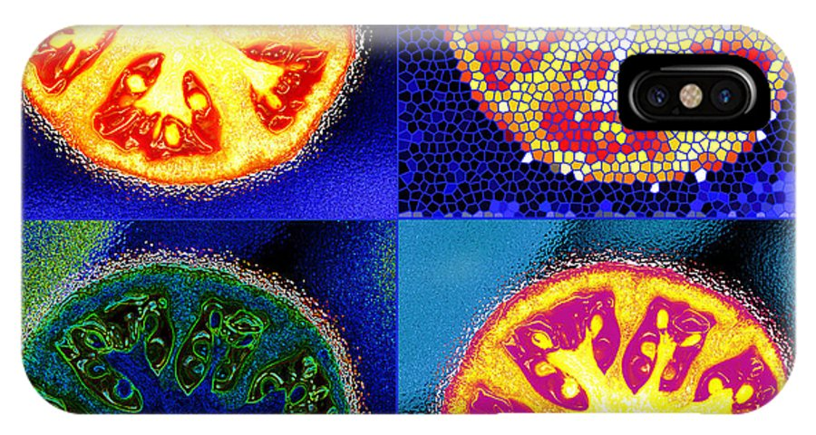 Tomatoes IPhone Case featuring the photograph 4 Abstract Tomatoes by Nancy Mueller