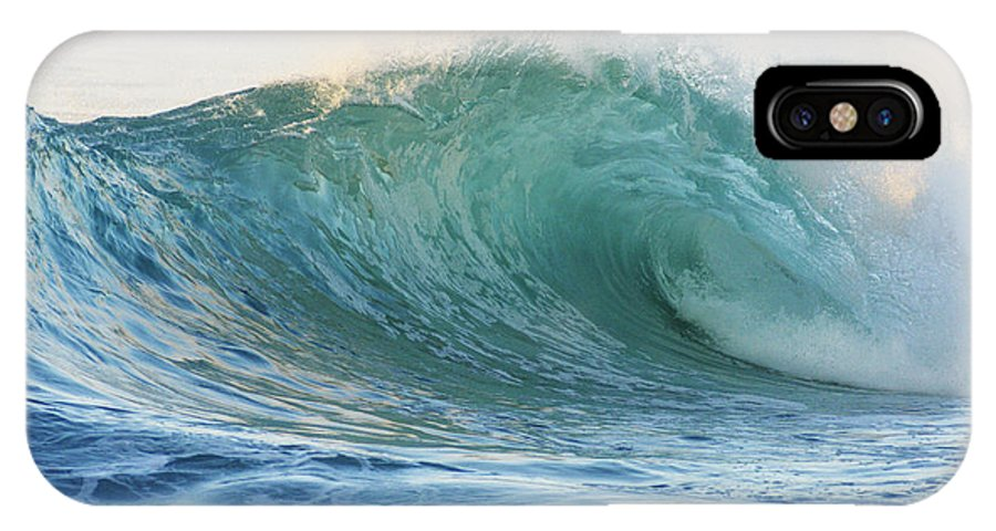 Active IPhone X Case featuring the photograph Beautiful Wave Breaking by Vince Cavataio - Printscapes
