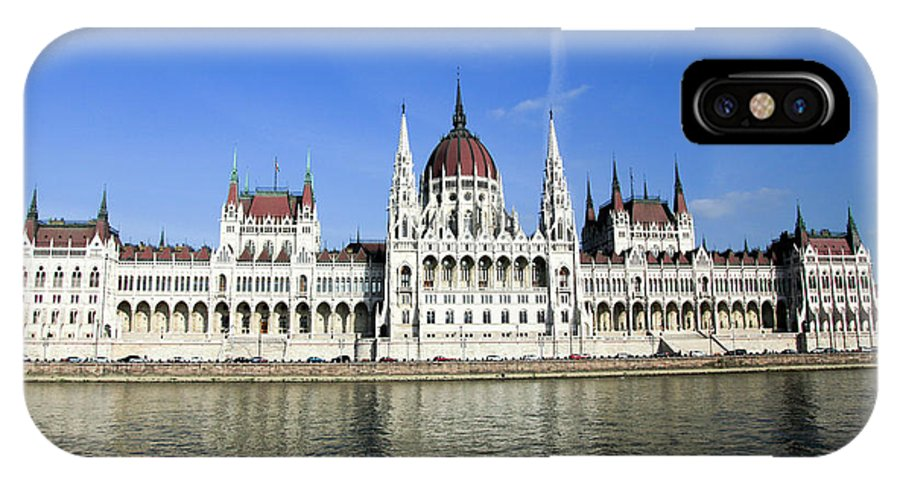 Famous Place IPhone X Case featuring the photograph Budapest, Parliament Building by Vladi Alon