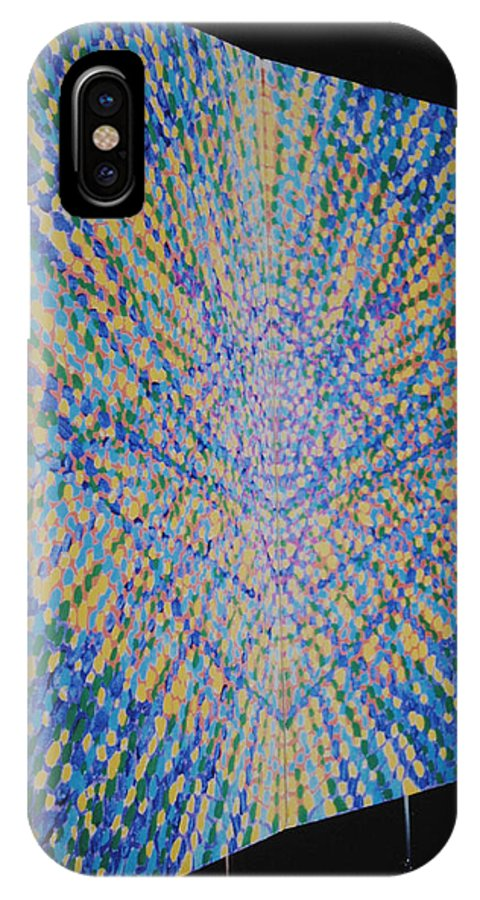Inspirational IPhone X Case featuring the painting Butterfly Dream by Kyung Hee Hogg
