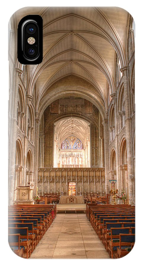 Christchurch IPhone X Case featuring the photograph Christchurch Priory by Chris Day
