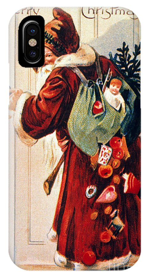 19th Century IPhone X Case featuring the photograph Christmas Card by Granger