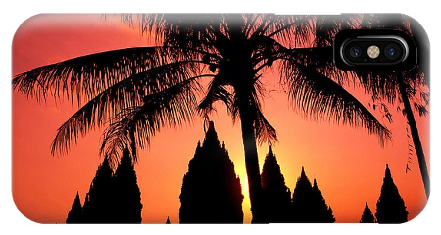 Ancient IPhone X Case featuring the photograph Java, Prambanan by Gloria & Richard Maschmeyer - Printscapes