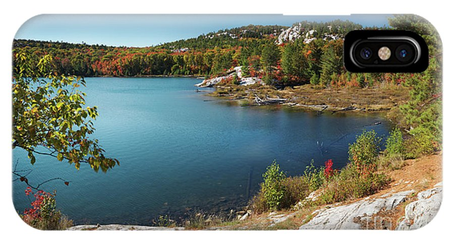 Lake IPhone X / XS Case featuring the photograph Killarney Provincial Park In Fall by Oleksiy Maksymenko