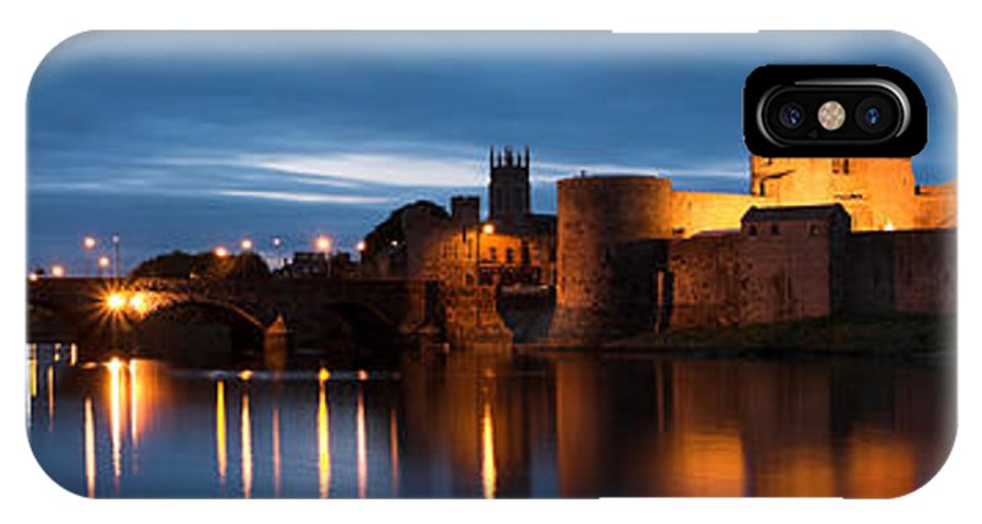 Ireland IPhone X Case featuring the photograph King John's Castle Limerick Ireland by Pierre Leclerc Photography