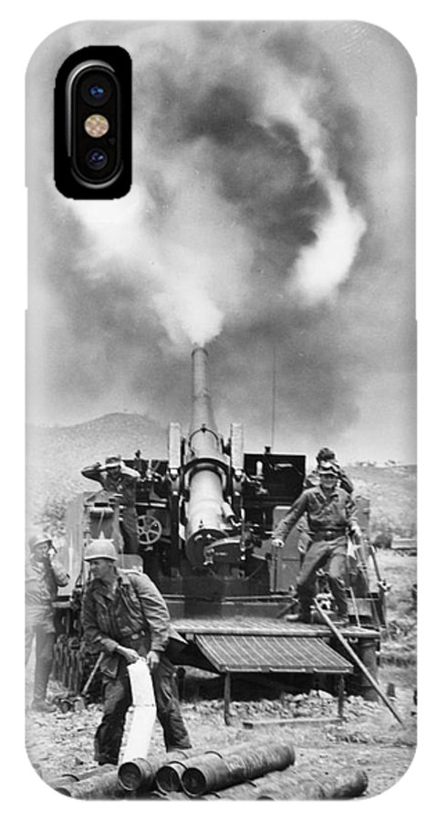 1951 IPhone X Case featuring the photograph Korean War: Artillery by Granger