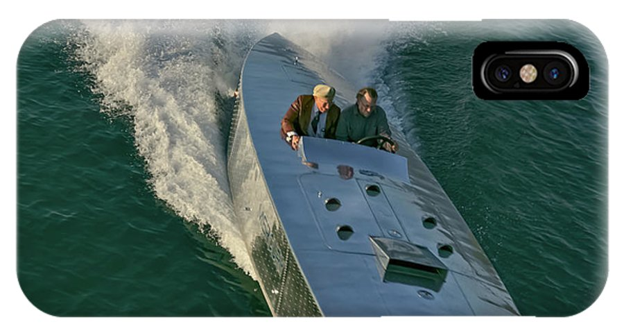 Runabout IPhone X Case featuring the photograph Mercury Race Boat by Steven Lapkin