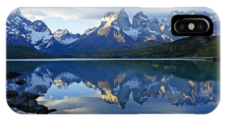 Patagonia IPhone X Case featuring the photograph Patagonia Reflection by Michele Burgess