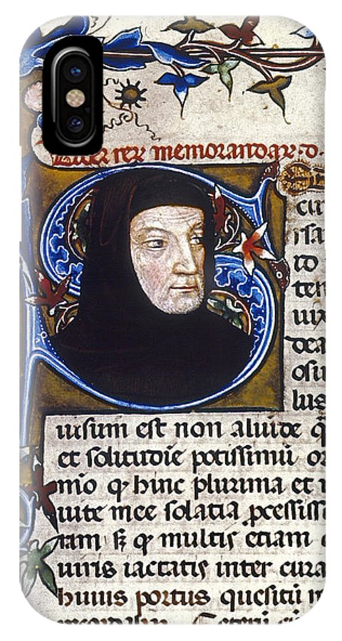 14th Century IPhone X Case featuring the photograph Petrarch (1304-1374) by Granger