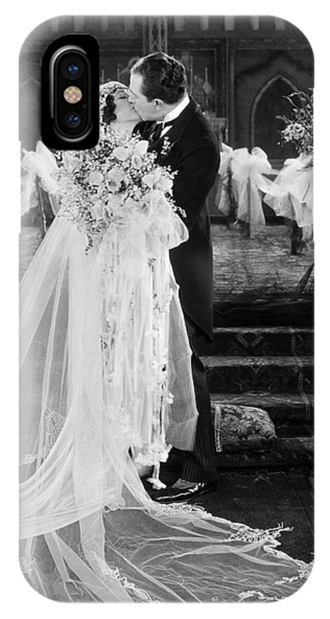 -weddings & Gowns- IPhone X Case featuring the photograph Silent Film Still: Wedding by Granger