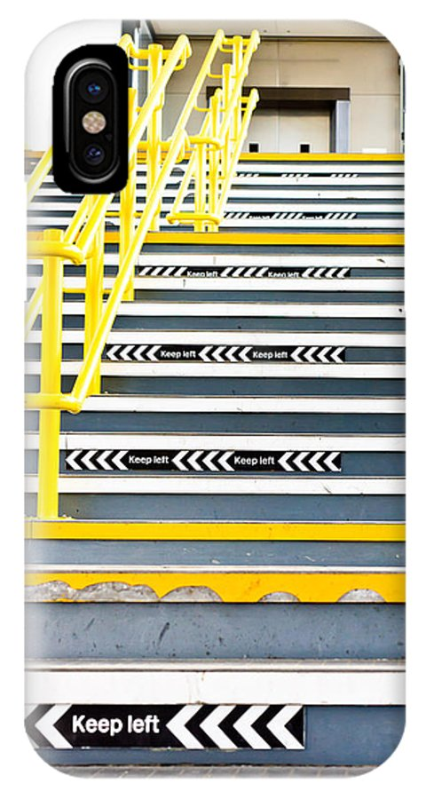 Advancing IPhone X Case featuring the photograph Stairs by Tom Gowanlock