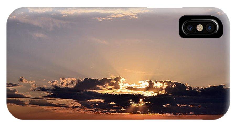 Sunrise IPhone X / XS Case featuring the photograph Sunrise by Larry Poulsen