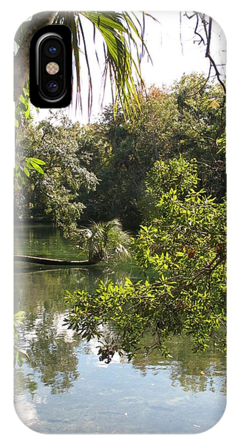 Swamp IPhone X Case featuring the photograph Swamp Reflection by Christiane Schulze Art And Photography