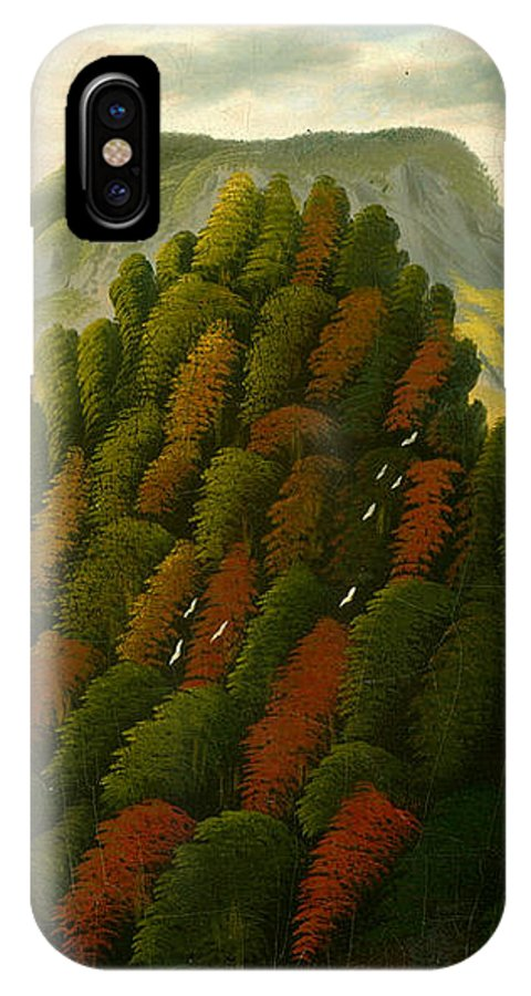 Thomas Chambers IPhone X Case featuring the painting The Connecticut Valley by Thomas Chambers
