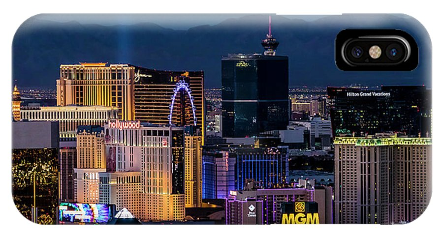 Las Vegas IPhone X Case featuring the photograph the Strip at night, Las Vegas by Sv