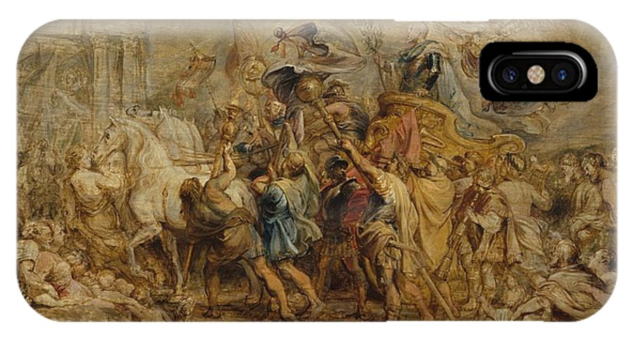 Peter Paul Rubens The Triumph Of Henry Iv IPhone X Case featuring the painting The Triumph Of Henry Iv by Peter Paul Rubens