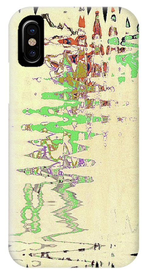 Abstract IPhone X Case featuring the digital art 4 U 245 by John Saunders