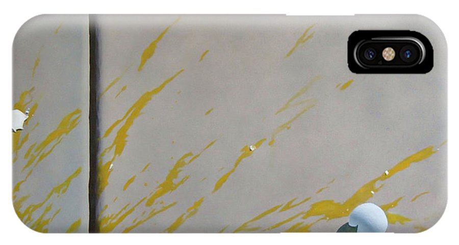 Street Scene IPhone X Case featuring the painting Untitled 5 by Philip Fleischer