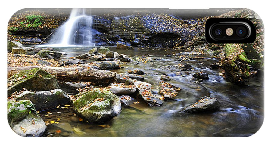 Holly River State Park IPhone X / XS Case featuring the photograph Upper Falls Holly River State Park by Thomas R Fletcher
