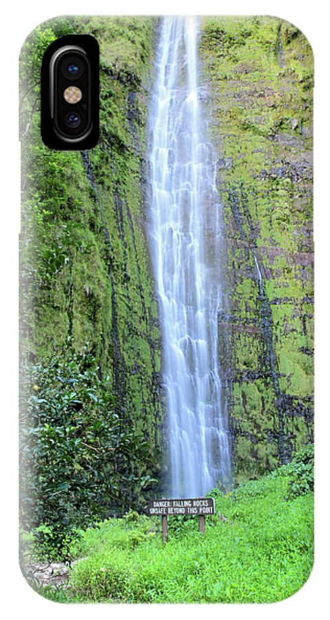 Waimoku IPhone X / XS Case featuring the photograph 400 Foot Waimoku Falls Maui by Pierre Leclerc Photography