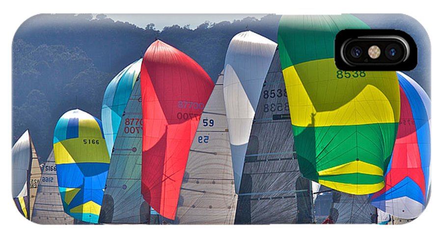 Regatta IPhone X Case featuring the photograph Bay Colors by Steven Lapkin