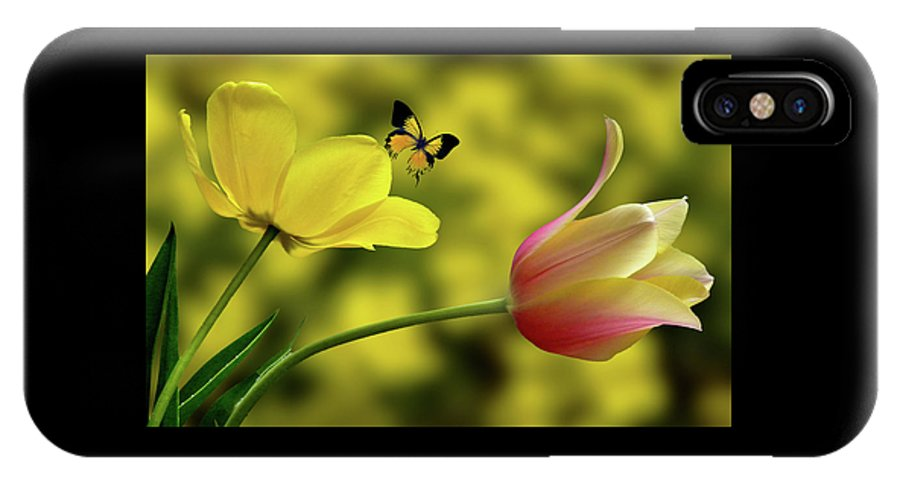 Flower IPhone X / XS Case featuring the photograph 4219 by Peter Holme III
