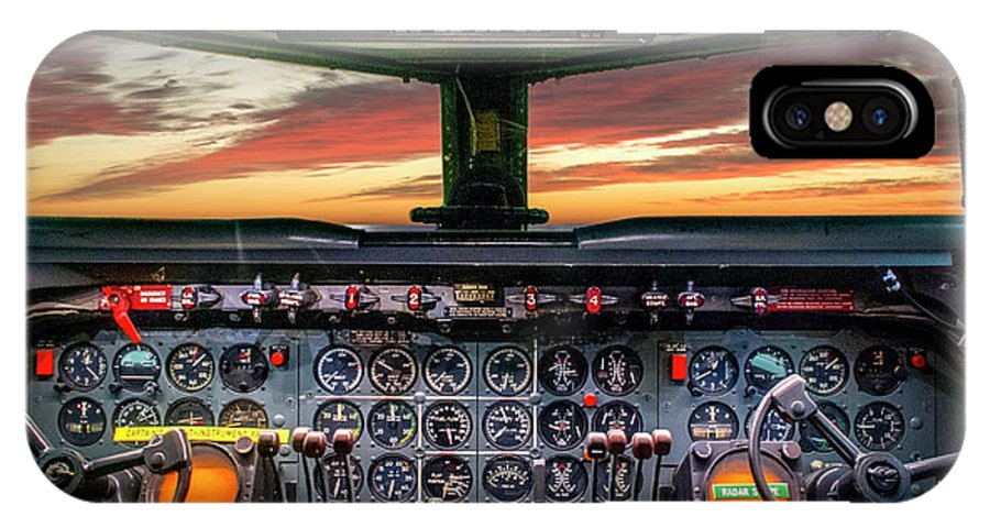 Washington IPhone X Case featuring the photograph 4245- Cockpit by David Lange