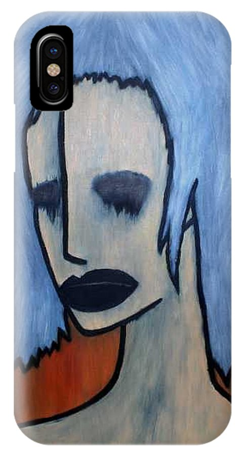 Potrait IPhone X / XS Case featuring the painting Halloween by Thomas Valentine