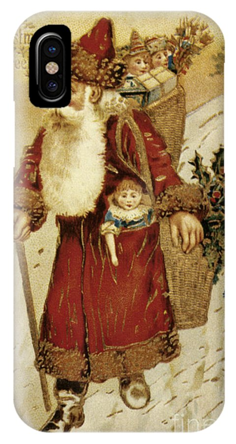 19th Century IPhone X Case featuring the photograph American Christmas Card by Granger