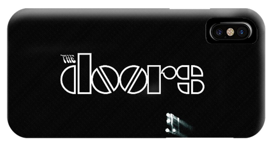 55 The Doors IPhone X Case featuring the digital art 45551 The Doors by Mery Moon