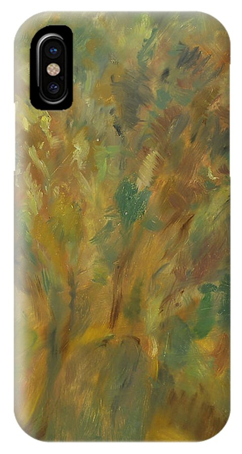 Sunlight IPhone X Case featuring the painting Tree by Robert Nizamov