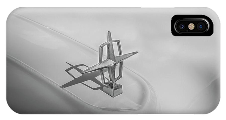 1959 Lincoln IPhone X Case featuring the photograph 1959 Lincoln Continental Town Car Mk Iv Painted Bw  by Rich Franco