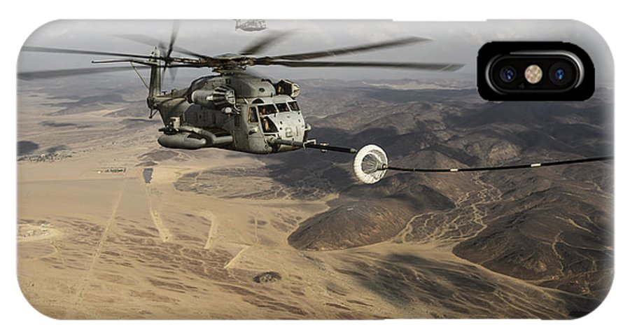 Horizontal IPhone X Case featuring the photograph A U.s. Marine Corps Ch-53e Super by Stocktrek Images