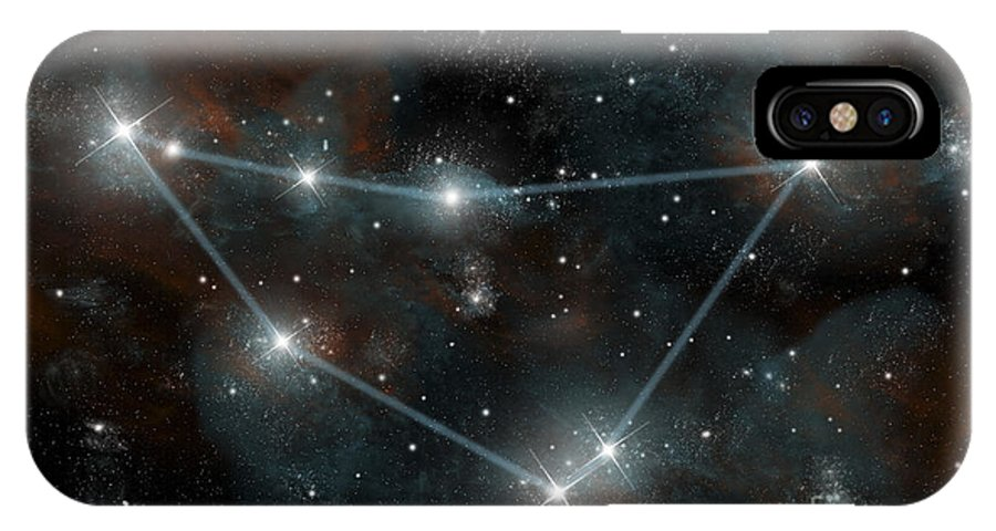 Astrology IPhone X Case featuring the digital art Artists Depiction Of The Constellation by Marc Ward