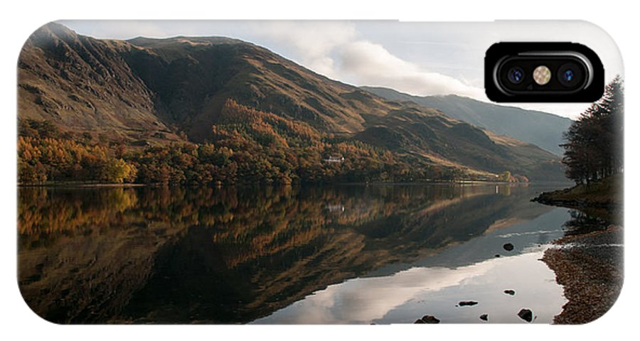Buttermere IPhone X / XS Case featuring the photograph Buttermere by Smart Aviation