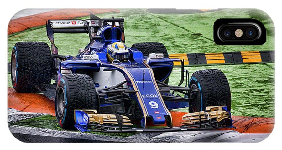 Sauber IPhone X Case featuring the photograph Formula 1 Monza 2017 by Srdjan Petrovic