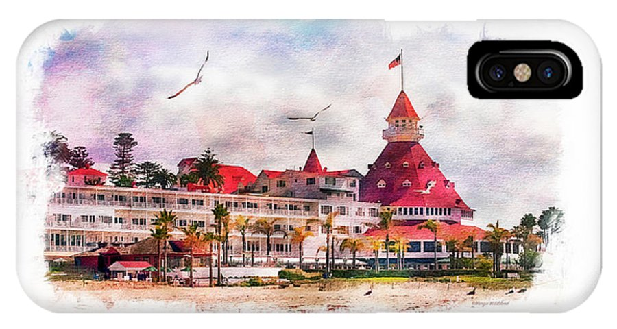 Beach IPhone X Case featuring the photograph Hotel Del Coronado by Margie Wildblood