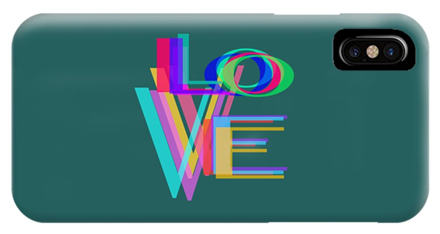 Abstract IPhone X / XS Case featuring the photograph Love by Bill Owen