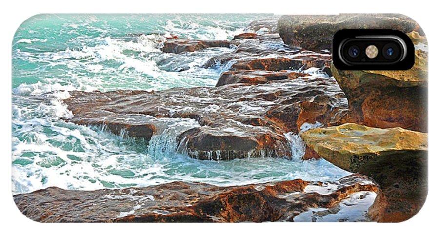 Beach IPhone X Case featuring the photograph 5- Ocean Reef Shoreline by Joseph Keane