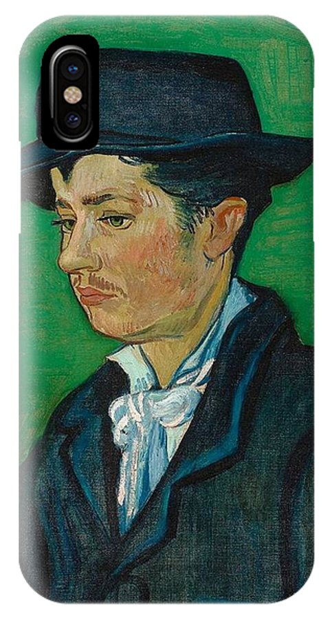 Vincent Van Gogh IPhone X Case featuring the painting Portrait Of Armand Roulin by Vincent Van Gogh