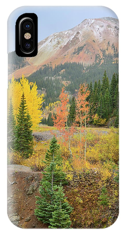 Colorado IPhone X Case featuring the photograph Red Mountain Pass by Ray Mathis